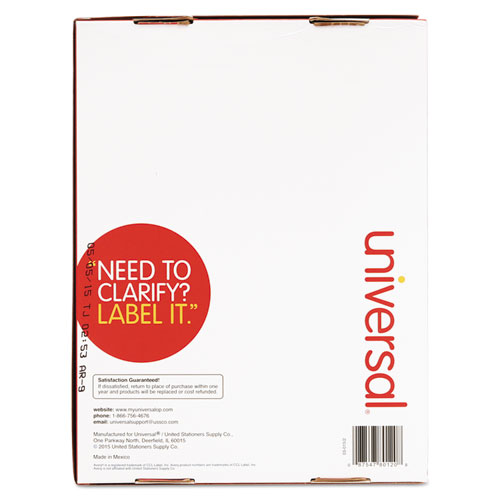 Unv80120 universal laser printer permanent labels zuma for Universal laser printer labels template