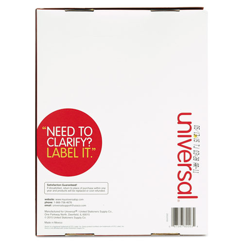 Unv80003 universal laser printer permanent labels zuma for Universal laser printer labels template