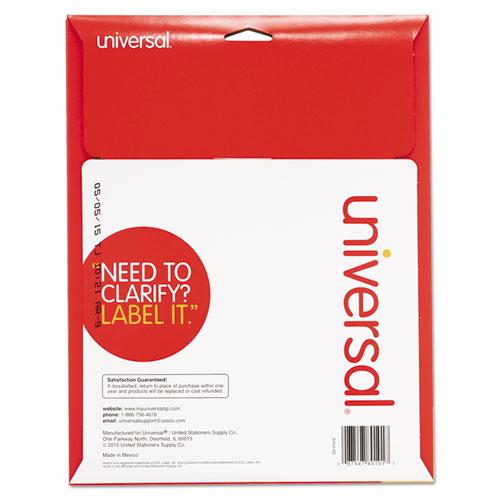 Unv80101 universal laser printer permanent labels zuma for Universal laser printer labels template