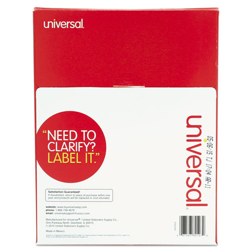 Unv80107 universal laser printer permanent labels zuma for Universal laser printer labels template