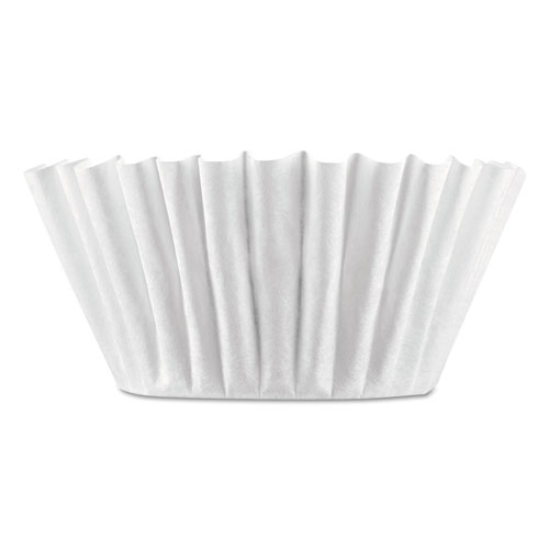Coffee Filters, 8/10-Cup Size, 100/Pack, 12 Packs/Carton | by Plexsupply