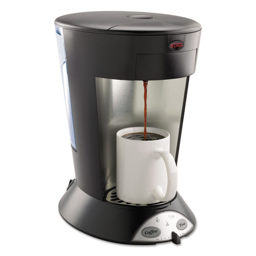 My Cafe Pourover Commercial Grade Coffee/Tea Pod Brewer, Stainless Steel, Black