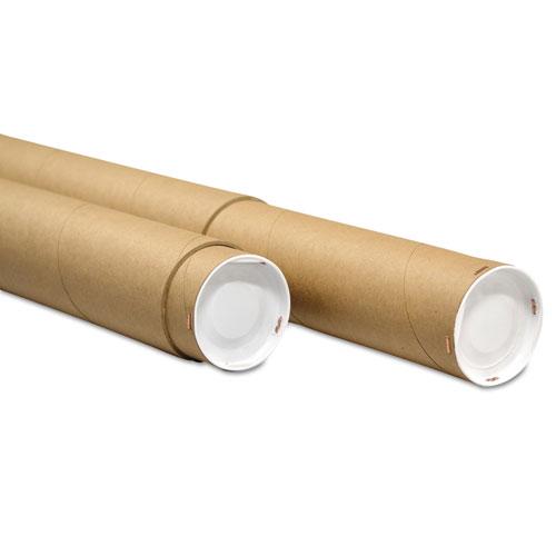 "Adjustable Round Mailing Tubes, 30l - 60l x 3 1/8"" dia., Brown Kraft, 12/Pack ATK33060"