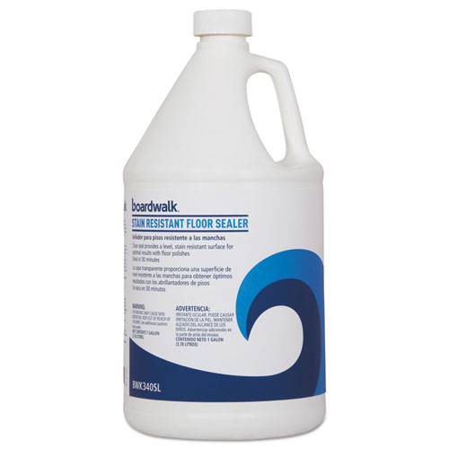 Boardwalk® Stain Resistant Floor Sealer, 1 gal Bottle, 4/Carton