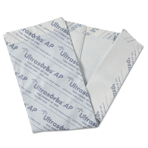 Ultrasorbs AP Underpads, 31 x 36, White, 10/Pack