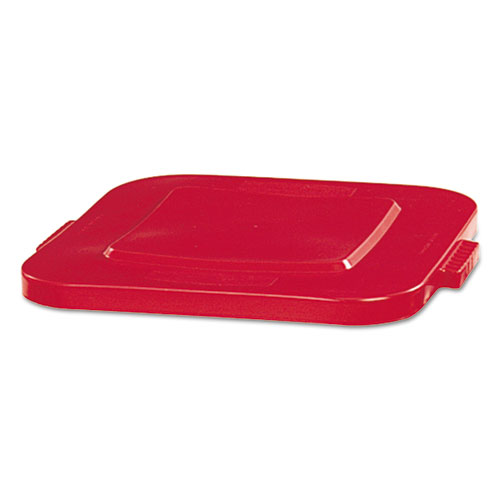 Square Brute Lid, 24 x 22 x 1 1/4, Red