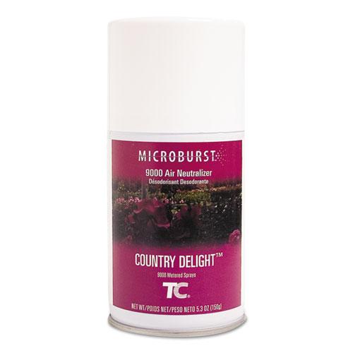 Rubbermaid® Commercial TC Microburst 9000 Air Freshener Refill, Country Delight, 5.3 oz Aerosol, 4/Carton