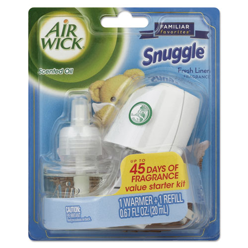 Air Wick® Scented Oil Starter Kit, Snuggle Fresh Linen, 0.67 oz