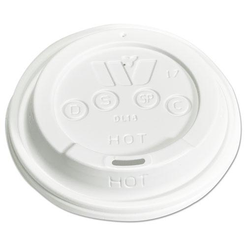 Plastic Lids for 12,16,20,24 oz Foam Cups, Sip-Thru, ID, White, 1000/Carton DL18