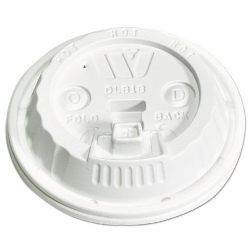 Plastic Lids for 12,16,20,24 oz Foam Cups, Reclose Sip-Thru, ID, White, 1000/Ctn DLB18