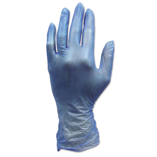 HOSPECO® ProWorks Industrial Grade Disposable Vinyl Gloves, Small, Blue, 1000/Carton