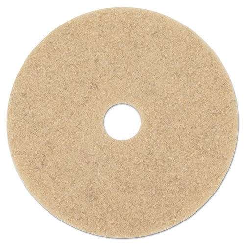"Boardwalk® Natural Hog Hair Burnishing Floor Pads, 21"" Diameter, 5/Carton"