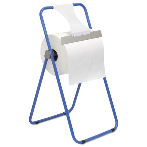 Jumbo Roll Dispenser, Floor Stand, Blue, 16 3/8 x 20 x 33, Steel