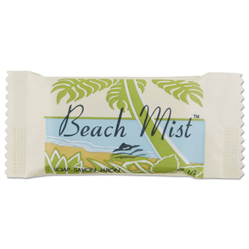 Face and Body Soap, Beach Mist Fragrance,  1/2 Bar, 1000/Carton