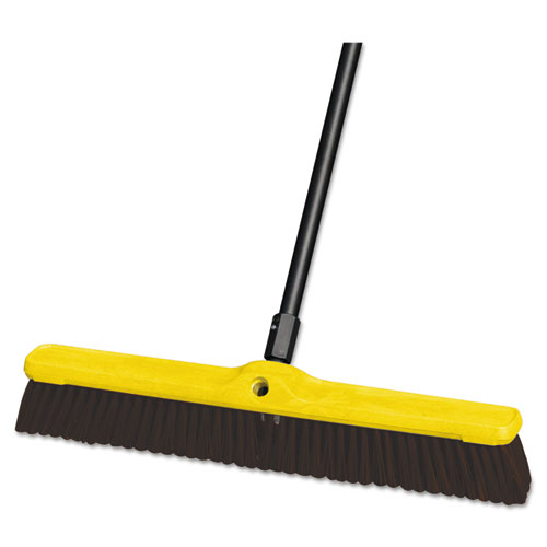 "Rubbermaid® Commercial Heavy Duty Floor Sweep, 24"" x 3"", Maroon, Polypropylene, 12/Carton"