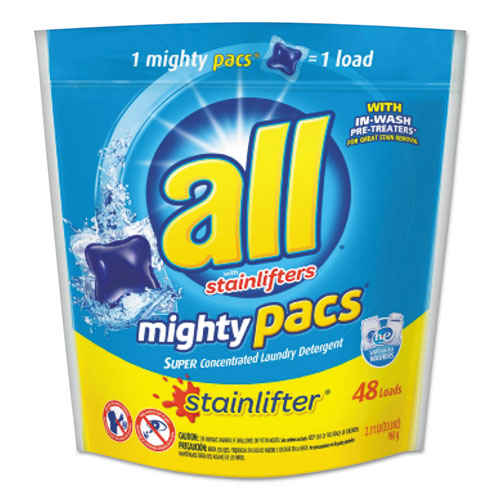 All® Mighty Pacs Super Concentrated Laundry Detergent, 48 Pacs
