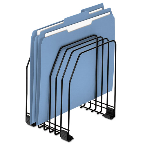 """Wire Organizer, 7 Sections, Letter to Legal Size Files, 7.38"""" x 5.88"""" x 8.25"""", Black 
