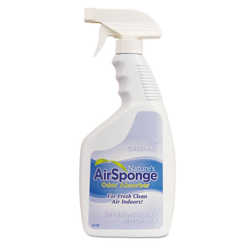 Sponge Odor Absorber Spray, Fragrance Free, 22 oz Spray Bottle, 12/Carton