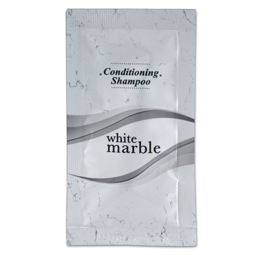 Shampoo/Conditioner, Clean Scent, 0.25 oz Packet, 500/Carton