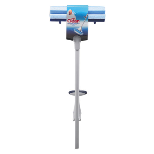 Heavy Duty Roller Mop, 45 Handle, 10 1/2 x 3 Head, White/Blue