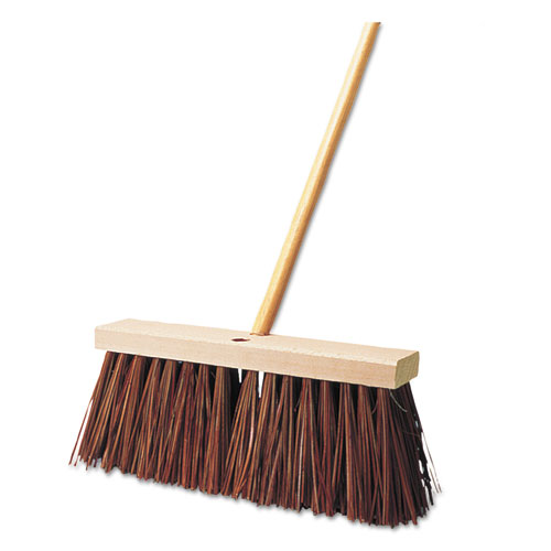 Street Broom, Palmyra Fill, 6 Bristles, 16 Block