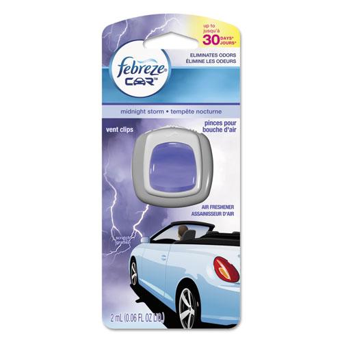 Febreze® CAR Air Freshener, Midnight Storm, 2 ml Clip, 8/Carton