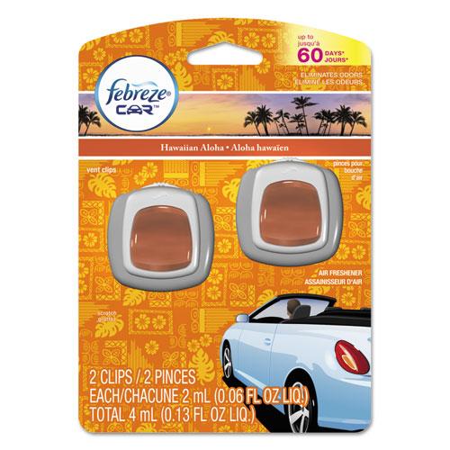 Febreze® CAR Air Freshener, Hawaiian Aloha, 2 ml Clip, 2/Pack