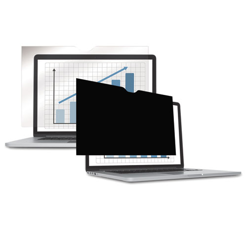 "PrivaScreen Blackout Privacy Filter for 14.1"" Widescreen LCD/Notebook, 16:10 
