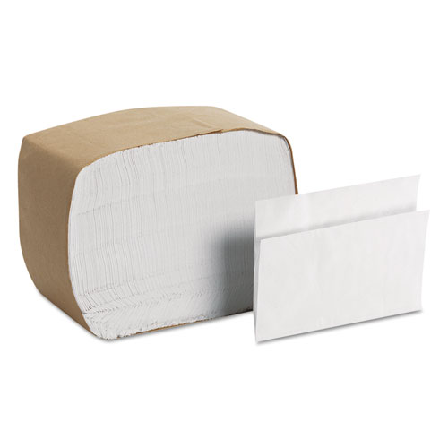 MorNap Full-Fold Dispenser Napkins, 1-Ply, 12x17, White, 250/Pack, 24Pk/Ctn | by Plexsupply