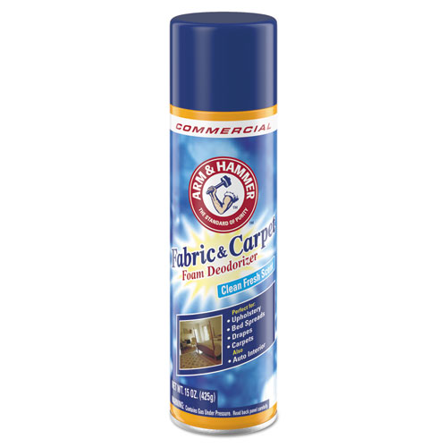 Arm & Hammer™ Fabric and Carpet Foam Deodorizer, Fresh Scent, 15 oz Aerosol, 8/Carton