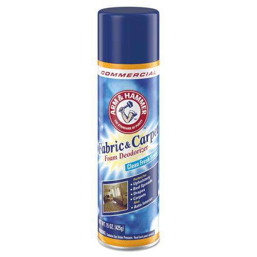 Fabric and Carpet Foam Deodorizer, Fresh Scent, 15 oz Aerosol, 8/Carton | by Plexsupply