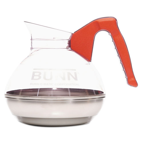 64 oz. Easy Pour Decanter, Orange Handle