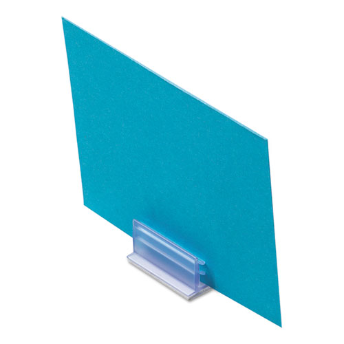 Clips Grips Tags SuperGrip Display Holder, 1 x 1/2 x 1/2, Clear, 50/Pack