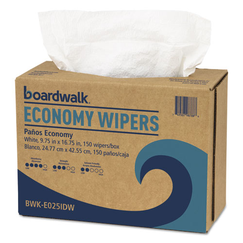 Scrim Wipers, 4-Ply, White, 9 3/4 x 16 3/4, 900/Carton