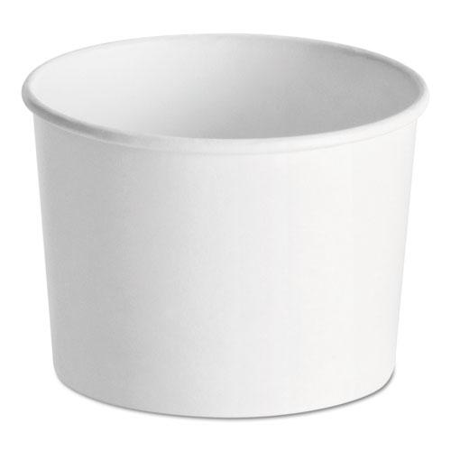 Huhtamaki Paper Food Containers, 12 oz, White, 1000/Carton