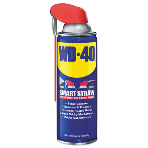 Smart Straw Spray Lubricant, 12 oz Aerosol Can, 12/Carton