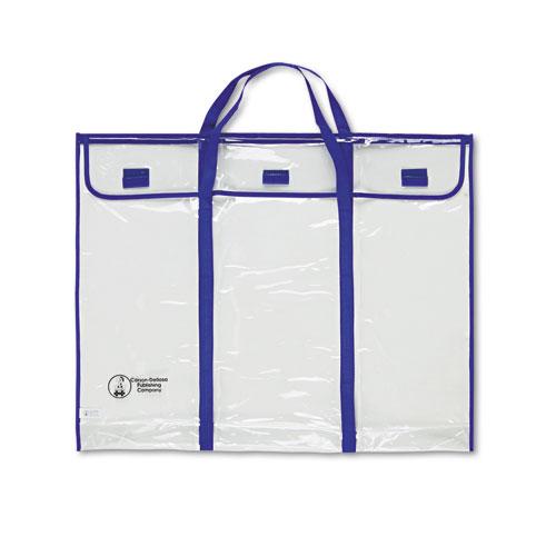"Carson-Dellosa Publishing Bulletin Board Storage Bag, Blue/Clear, 30"" x 24"""