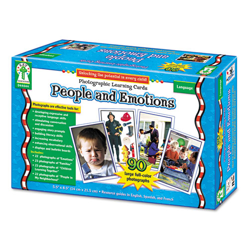 Photographic Learning Cards Boxed Set, People and Emotions, Grades K-12 | by Plexsupply