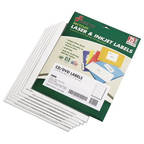 7530015549538, Avery CD/DVD Label Maker Kit, Refills, 50/Pack