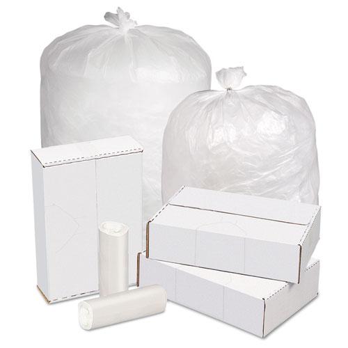 Pitt Plastics High Density Can Liners, 20-30 gal, 16 mic, 30 x 37, Natural, 250/Carton