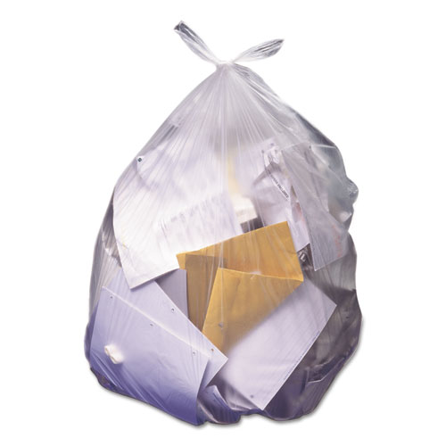High-Density Waste Can Liners, 60 gal, 22 microns, 38 x 60, Natural, 150/Carton