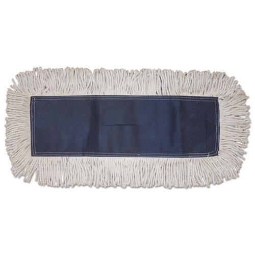 Disposable Dust Mop Head, Cotton, Cut-End, 60w x 5d