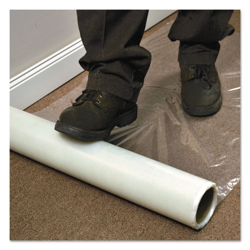 Roll Guard Temporary Floor Protection Film for Carpet, 36 x 2400, Clear