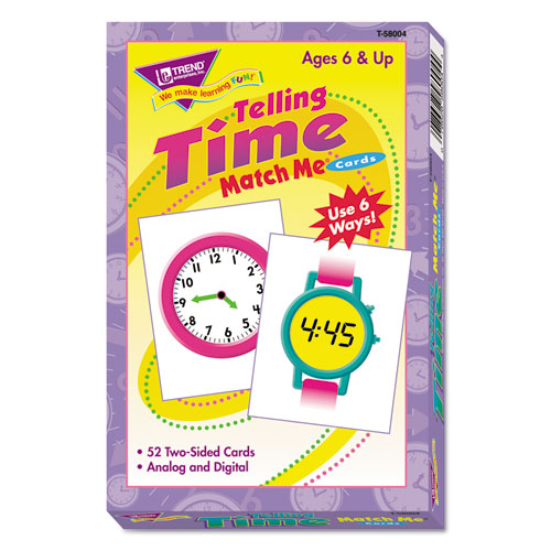 Match Me Cards, Telling Time, 52 Cards, Ages 6 and Up