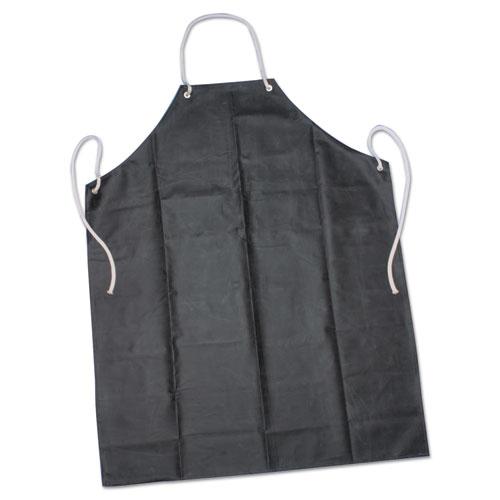 8415006345023, SKILCRAFT, Laboratory Apron, 35 x 45, Black, One Size Fits Most, Rubber