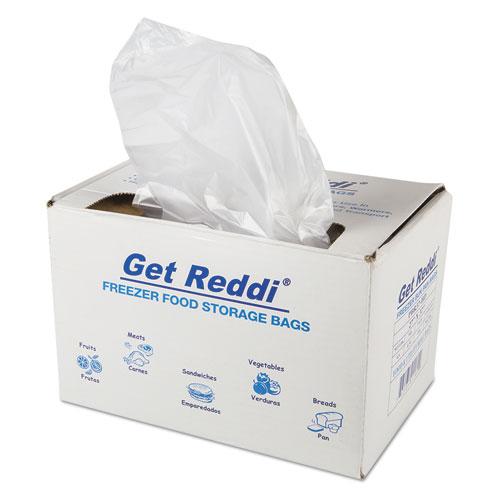 "Inteplast Group Get Reddi Freezer Food Storage Bags, 0.5 mil, 27"" x 37"", Natural, 200/Carton"