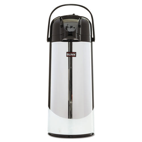 BUNN® 2.2 Liter Push Button Airpot, Stainless Steel