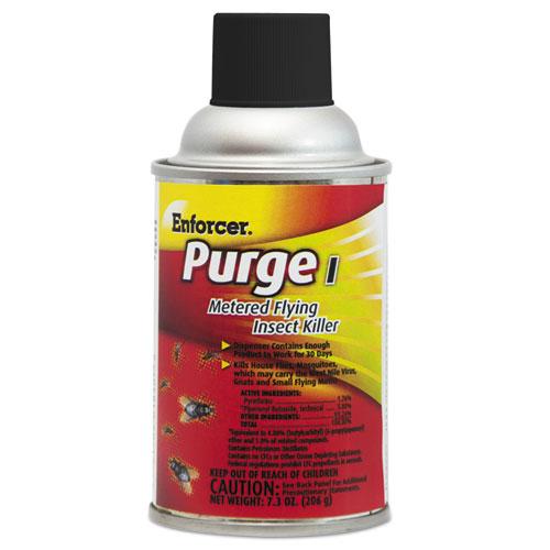 Enforcer® Purge I Metered Flying Insect Killer, 7.3 oz Aerosol, Unscented, 12/Carton