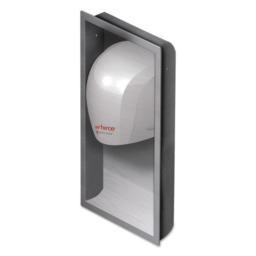 WORLD DRYER® Airforce Hand Dryer Recess Kit, 15 x 4 x 25, Stainless Steel