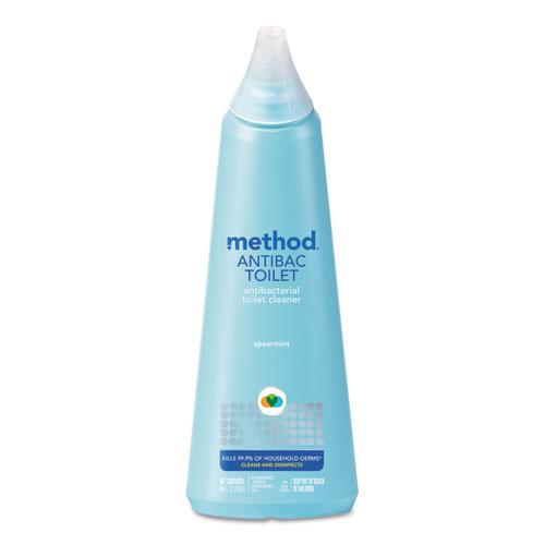 Antibacterial Toilet Cleaner, Spearmint, 24 oz Bottle, 6/Carton
